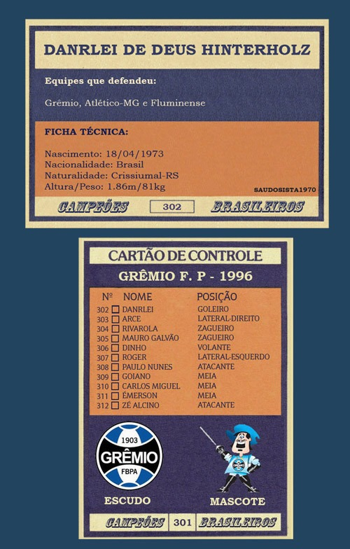 Futebol Cards 4 Times Do Gremio + Brinde Modelo Ping Pong - R  175 ... 73c3be6487e23