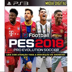 Futebol Pes 18 Ps3 + Patch Atualização 2019/2020 Digital Psn