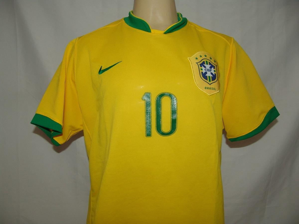 eb5f6c8e47 Carregando zoom... camisa futebol seleção brasileira 2006   10 ronaldinho  nike
