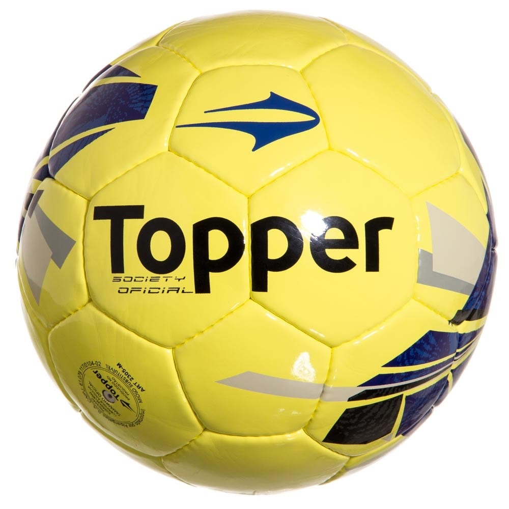 Bola De Futebol Society Topper Strike Vii - R  43 6ee0ebe7a6e46