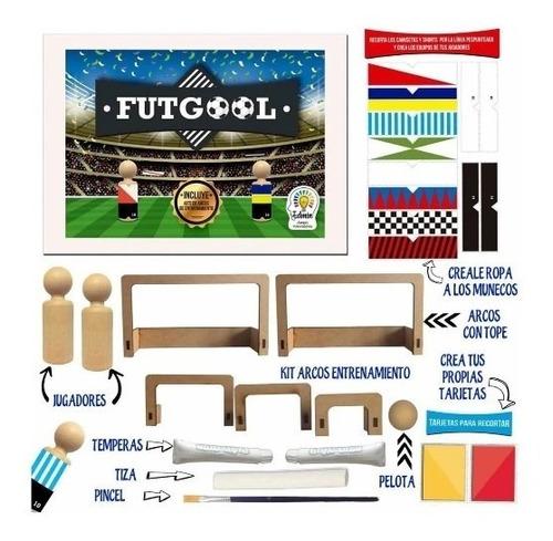 futgool - futbol de madera para pintar y armar - creatividad