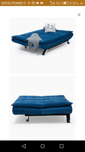 futon faith azul mica