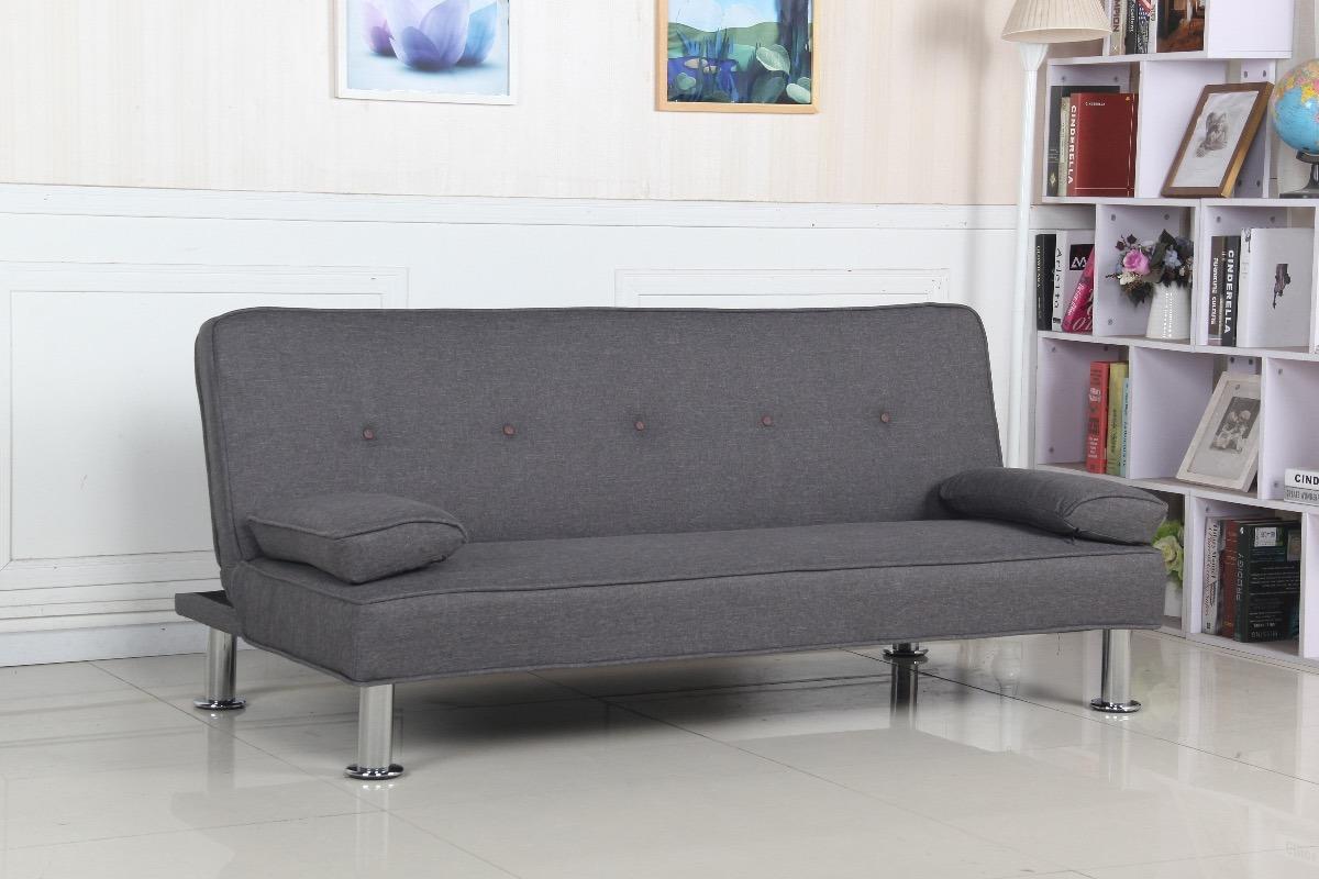 Futon Modelo Aleksi Sofa 3 Cuerpos Cama 1 Plaza Premium 6 399  # Muebles Dico Sofa Cama