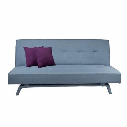 futon sillon cama alex en tela color celeste corfam