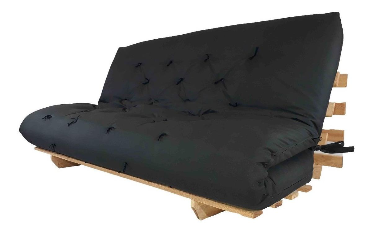 Futon Sofa Cama Casal Madeira Re Com