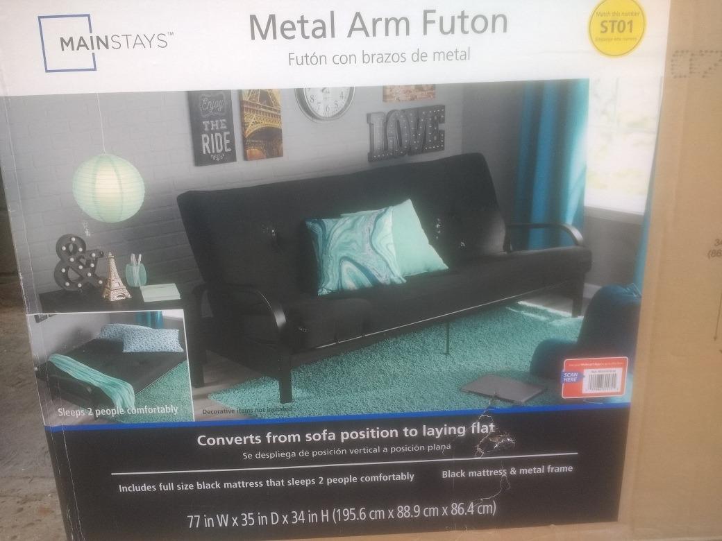 Futon Sofacama Armazon De Metal, Oferta!! - $ 3,100.00 en Mercado Libre