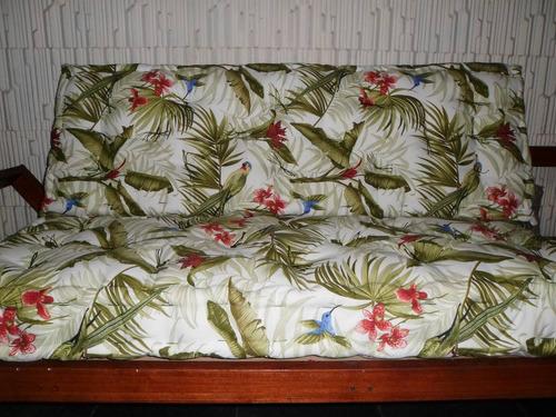 futon turco,assento e encosto.tecido impermeável, luxo.