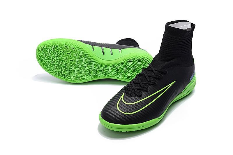 Chuteira Futsal Nike Mercurialx Original Preta Verde Profi - R  299 ... a4631002426b0