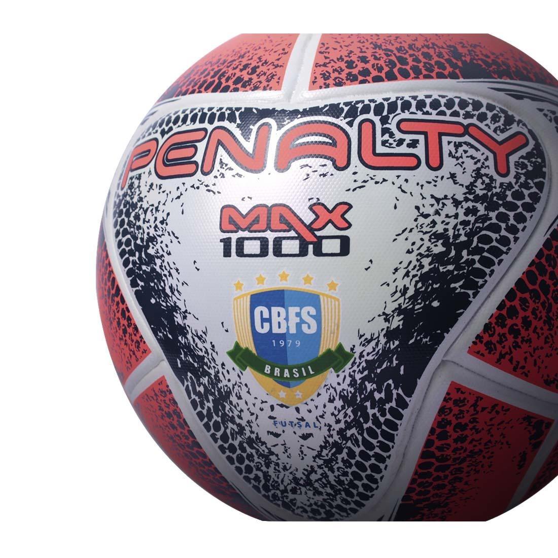 8170b5a68f Bola Futsal Penalty Max 1000 Aprovada Fifa 2018 Na Caixa - R  203
