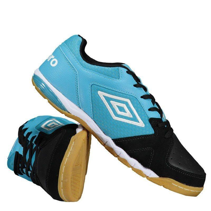 f18a82c9af Tênis Futsal Umbro Pro Iii 3 Adulto Preto  Azul - Promoção - R  259 ...