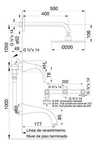 fv 103/49l griferia para bañera y transferencia alesia lever