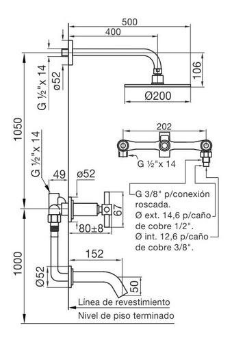 fv 103/87 griferia para bañera transferencia temple