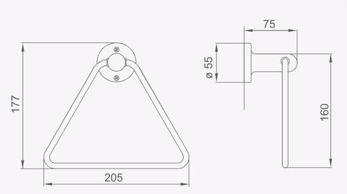 fv 162/15 toallero triangular linea allegro