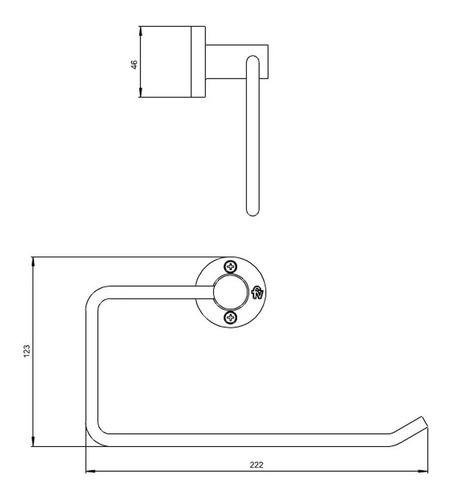 fv 162/17 toallero california cromo accesorios