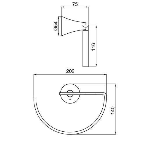 fv 162/49 toallero aro alesia cromo accesorios