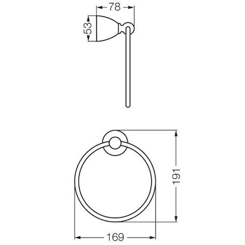 fv 162/62 toallero aro margot cromo accesorios