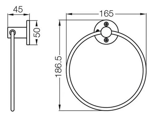 fv 162/b1 toallero aro arizona cromo accesorios