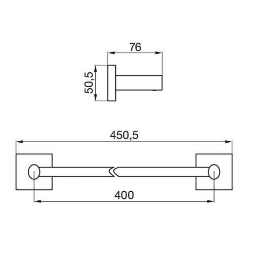 fv 164/28 toallero barral recto 45.5cm melody accesorios