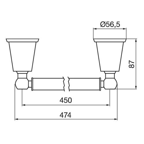 fv 164/84 toallero barral recto chess cromo accesorios