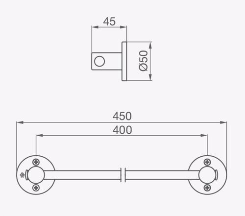 fv 164/b1 arizona toallero barral 44 cm cromo