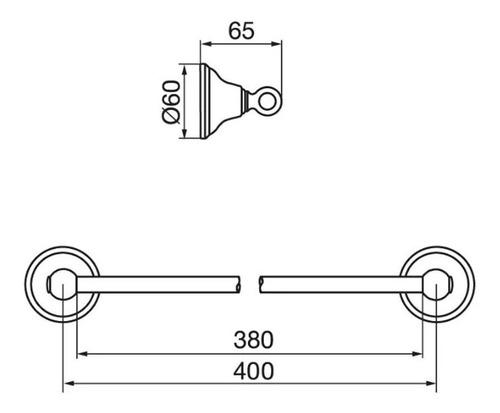 fv 164/b2 newport toallero barral recto 45 cm