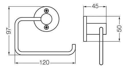 fv 167/b1 portarrollo arizona cromo accesorios