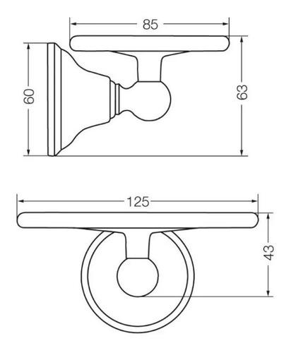 fv 168/b2 jabonera newport cromo accesorios