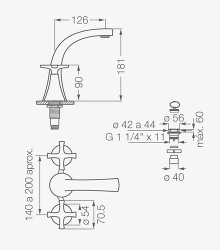 fv 207/49 alesia lavatorio cromo