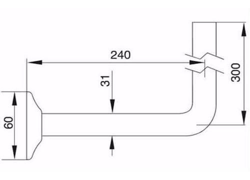 fv 239 descarga para lavatorio de 32mm cromo
