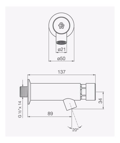 fv 360.02 valvula ecomatic de pared cromo