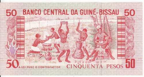fv * billete - guinea bissau 1990 * 50 pesos sin circular