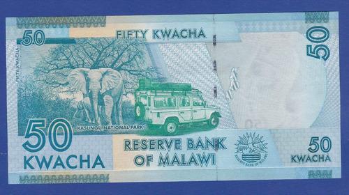 fv * billete - malawi 2012 - 50 kwacha unc