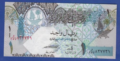 fv * billete - qatar 1 rial nd(2008) p- 28 unc