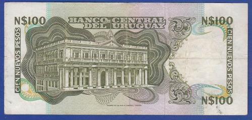 fv * billete - uruguay 1979 * 100 pesos - rotondaro - 22 c