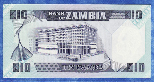 fv * billete - zambia - 10 kwacha unc