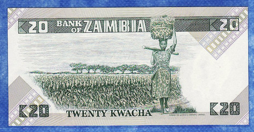 fv * billete - zambia - 20 kwacha unc