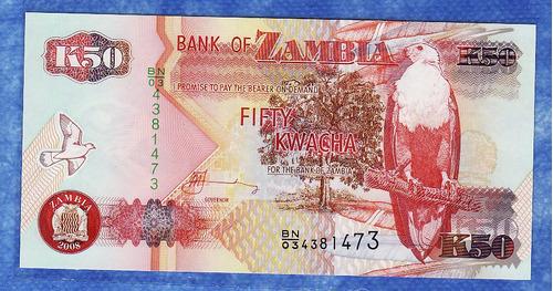 fv * billete - zambia - 2008 - 50 kwacha unc