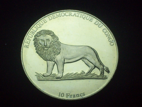 fv * congo 2003 - 10 francos isotta 1927 - unc