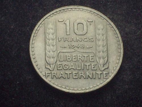 fv * francia 1948 - 10 francos