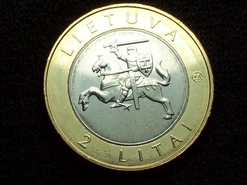 fv * lituania 2013 - 2 litai bimetal unc