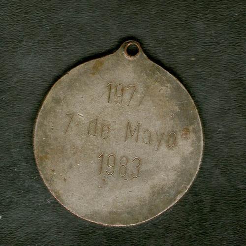 fv * medalla 1983 - ffaa - niquel 30 mm