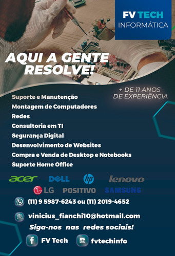 fv tech informática - assistência técnica especializada