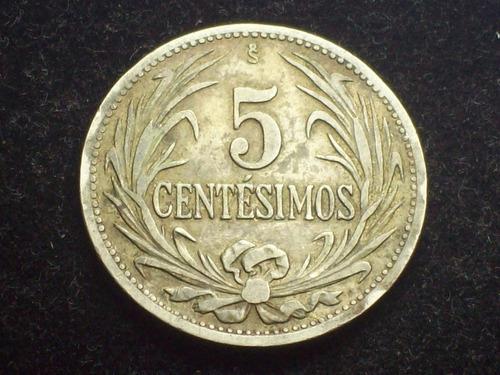 fv * uruguay 1941 - 5 centesimos - variante vitureira
