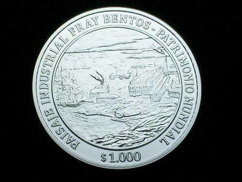 fv * uruguay 2016 - 1000 pesos de plata fray bentos