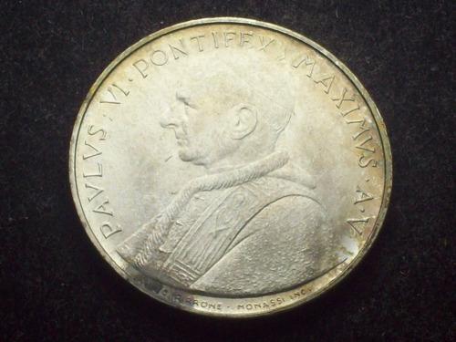 fv * vaticano 1967 - 500 liras de plata unc