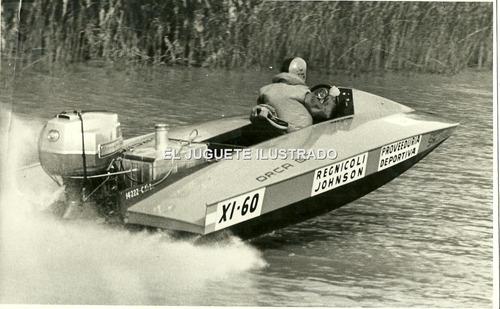 fv07 antigua foto motonautica lancha archivo la prensa 1972