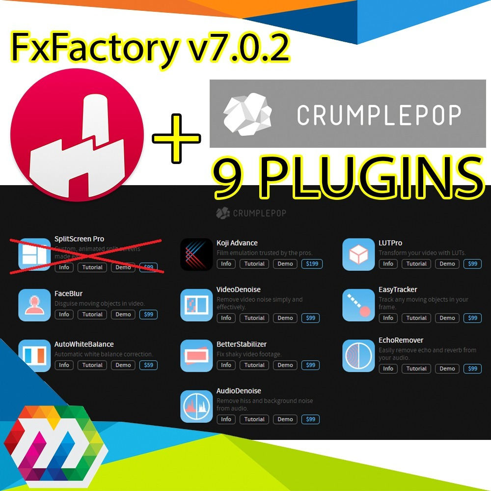Fxfactory, 9 Plugins Final Cut Motion Adobe Premiere Pro