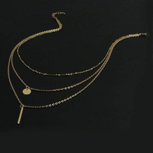fxmimior collar de múltiples capas 3 tier colgante de cad...
