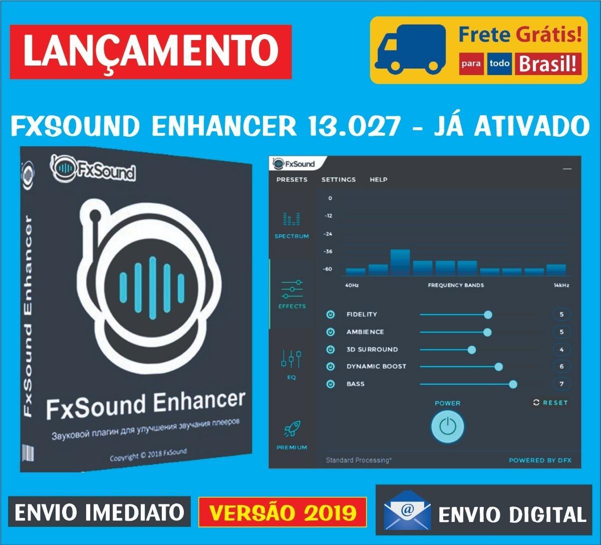 Fxsound Enhancer 13 027 / Frete Grátis / Envio Imediato