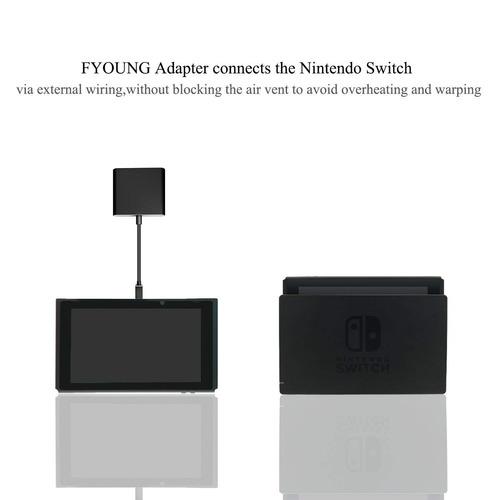 fyoung tipo c adaptador hdmi cable dock hub para nintendo...